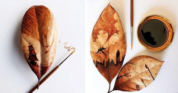Кофейный арт от индонезийского художника Чидак аль-Низара (17 фото)