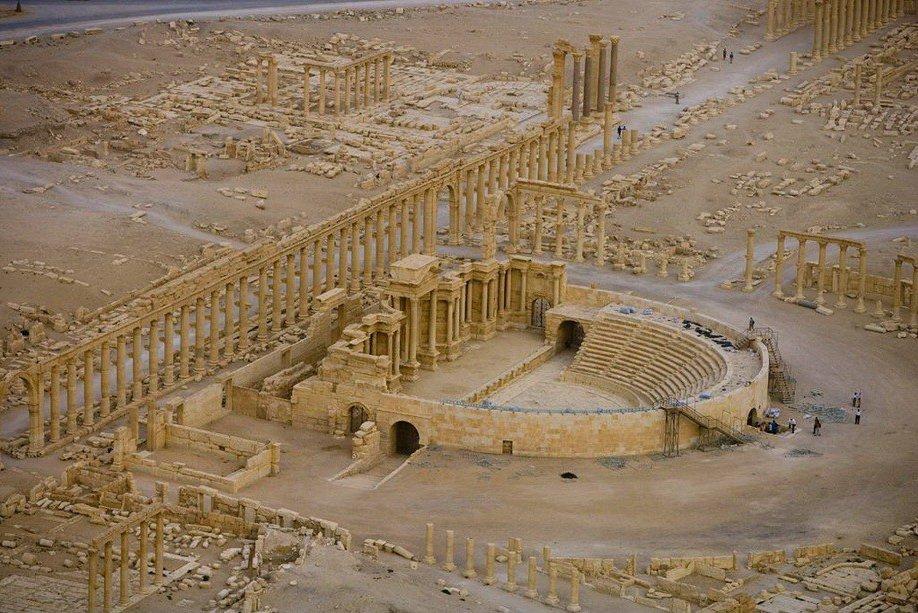 46. Римский театр в Пальмире, Сирия.
