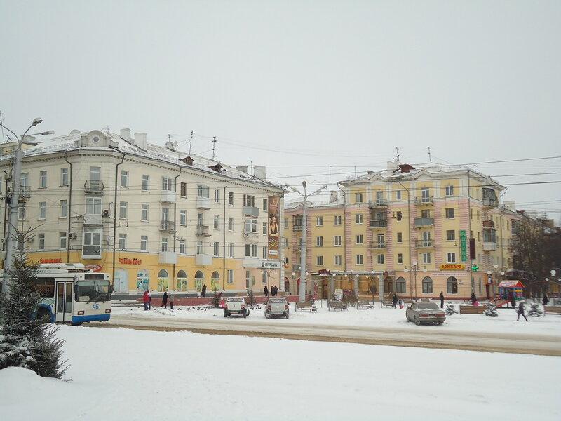 г. Ленинск-Кузнецкий. Здания на площади Победы