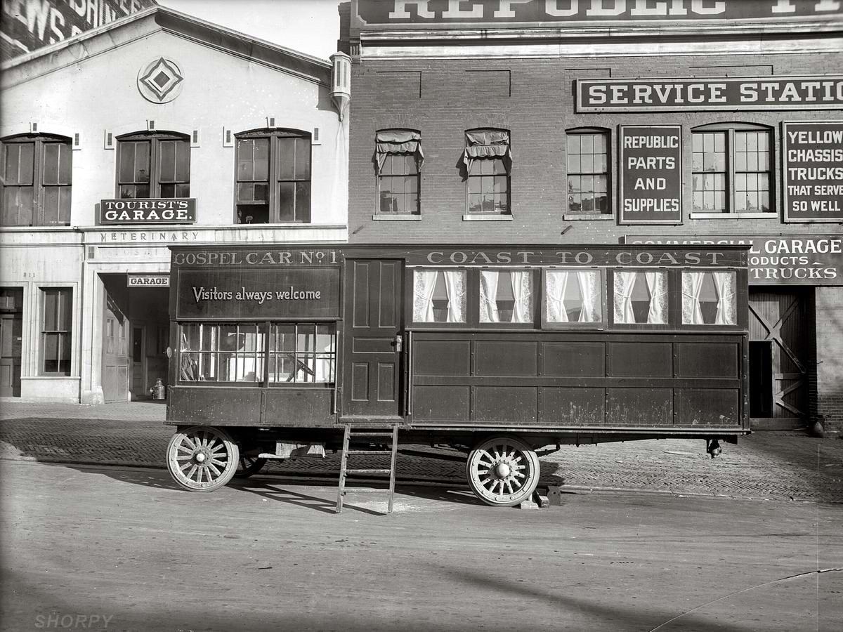 Специализированные транспортные средства начала 20-го века на снимках американских фотографов (29)