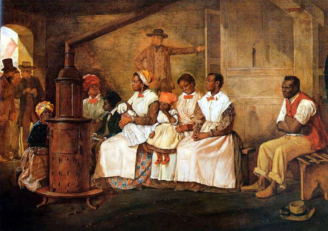 Рабы в ожидании начала своей продажи в городе Ричмонд, штат Вирджиния (1861 год)