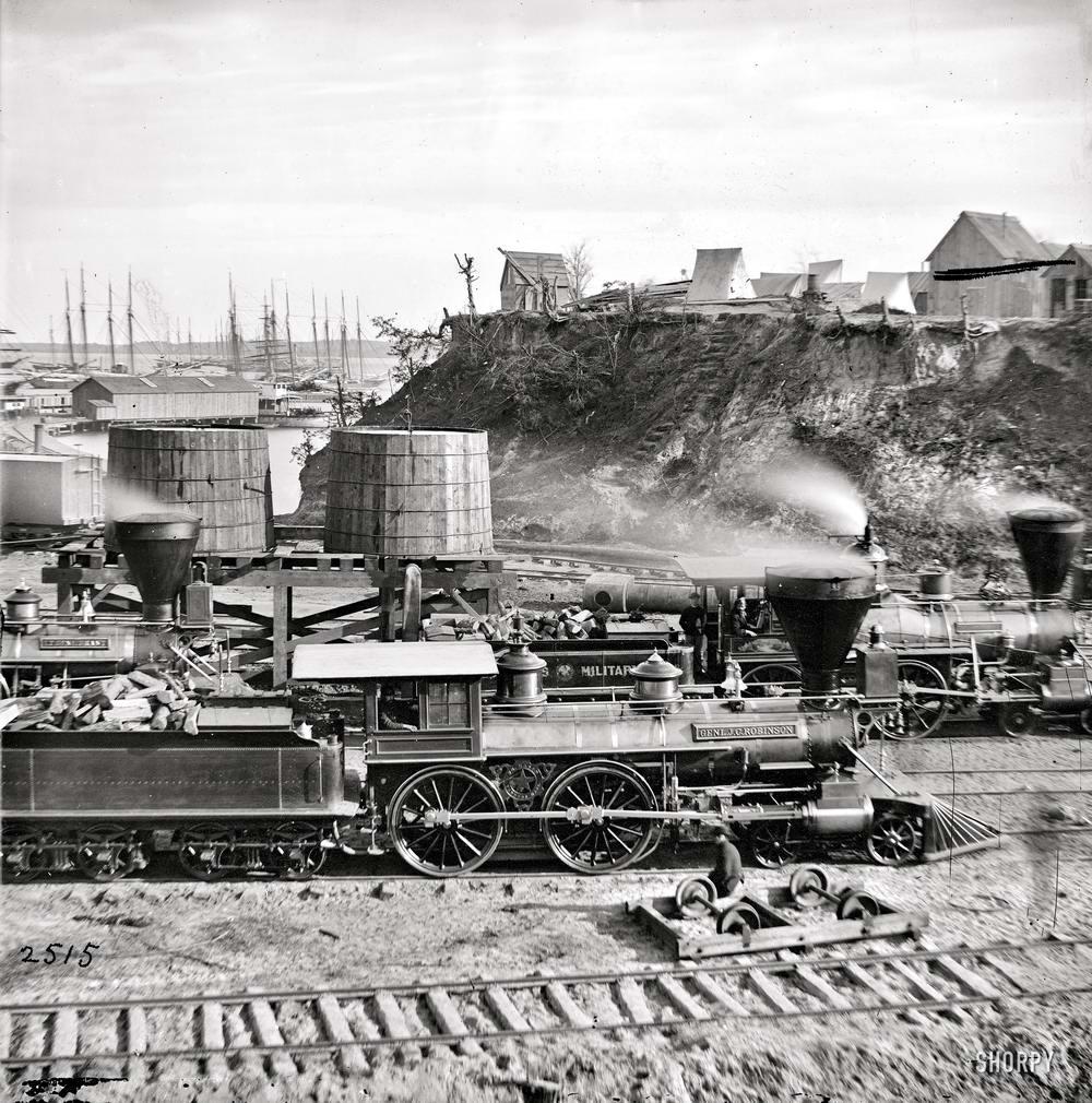 Железные дороги конца 19-го - начала 20-го века на снимках американских фотографов (9)