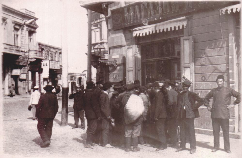 Перекресток улиц Кривой и Колюбакинской. 1905