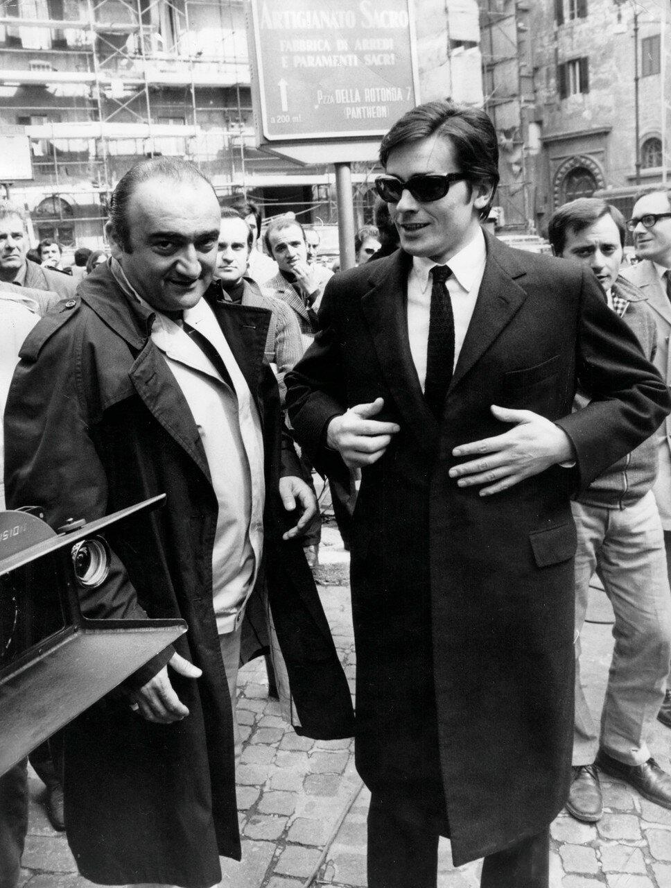 1969. С Анри Вернёй на съемках фильма «Сицилийский клан»
