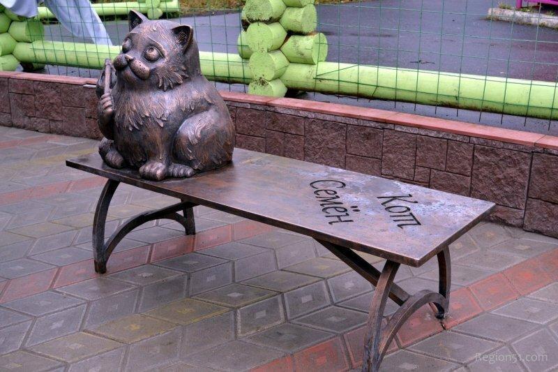 памятник коту Семену Мурманск