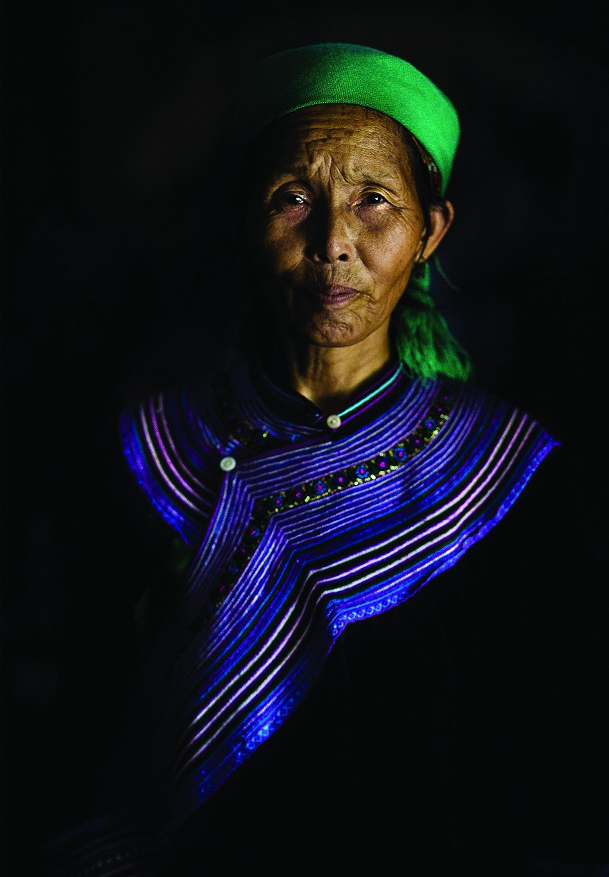 Портрет жительницы деревни Сапа.