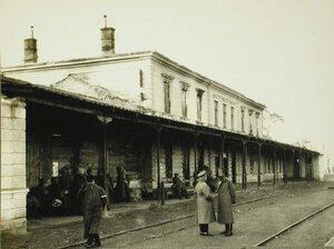 Вид поврежденной артиллерийским огнем станции Рава-Русская.