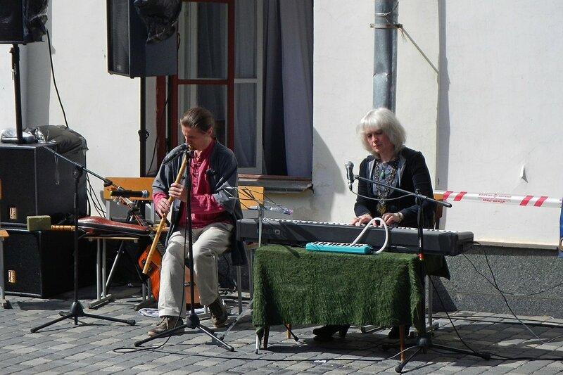 Выступление перед театром - «Вятский Арбат» в день города-2015 на пешеходной улице Спасской