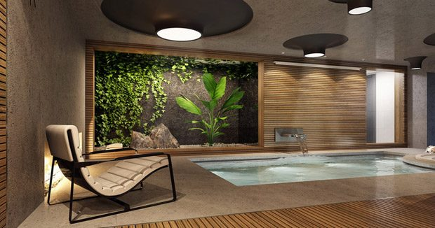 3 Ideas for an Indoor Luxury Spa Room (6 pics)
