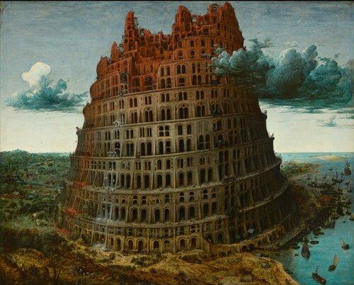 Вавилонская башня Питер Бреигель-старшии. Малыи вариант.jpg