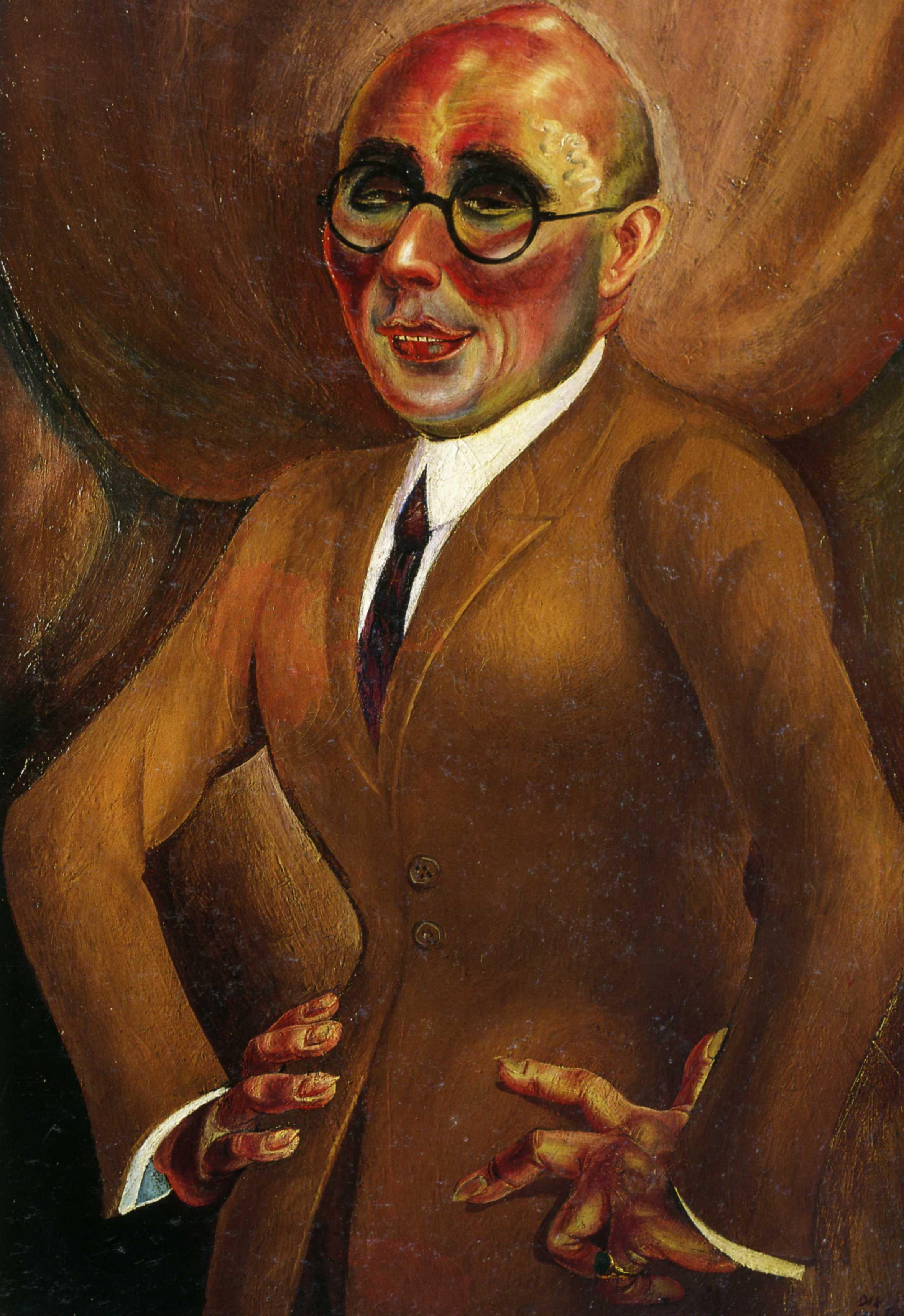 Отто Дикс. Портрет ювелира Карла Кролла. 1923