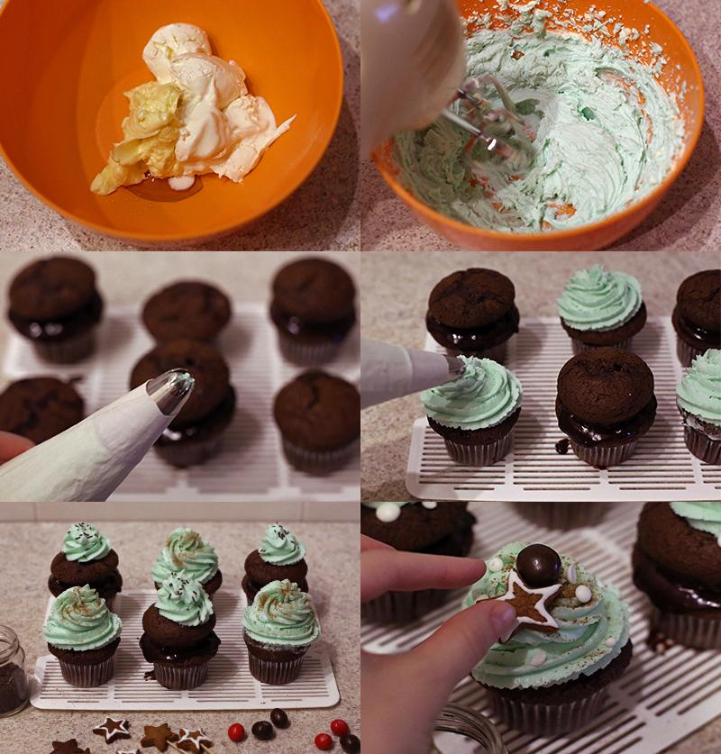 Шоколадные капкейки - пошаговый рецепт с фото #7.