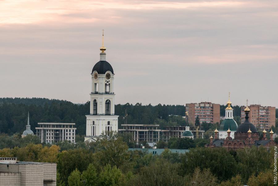 монастырская площадь Сарова с высоты