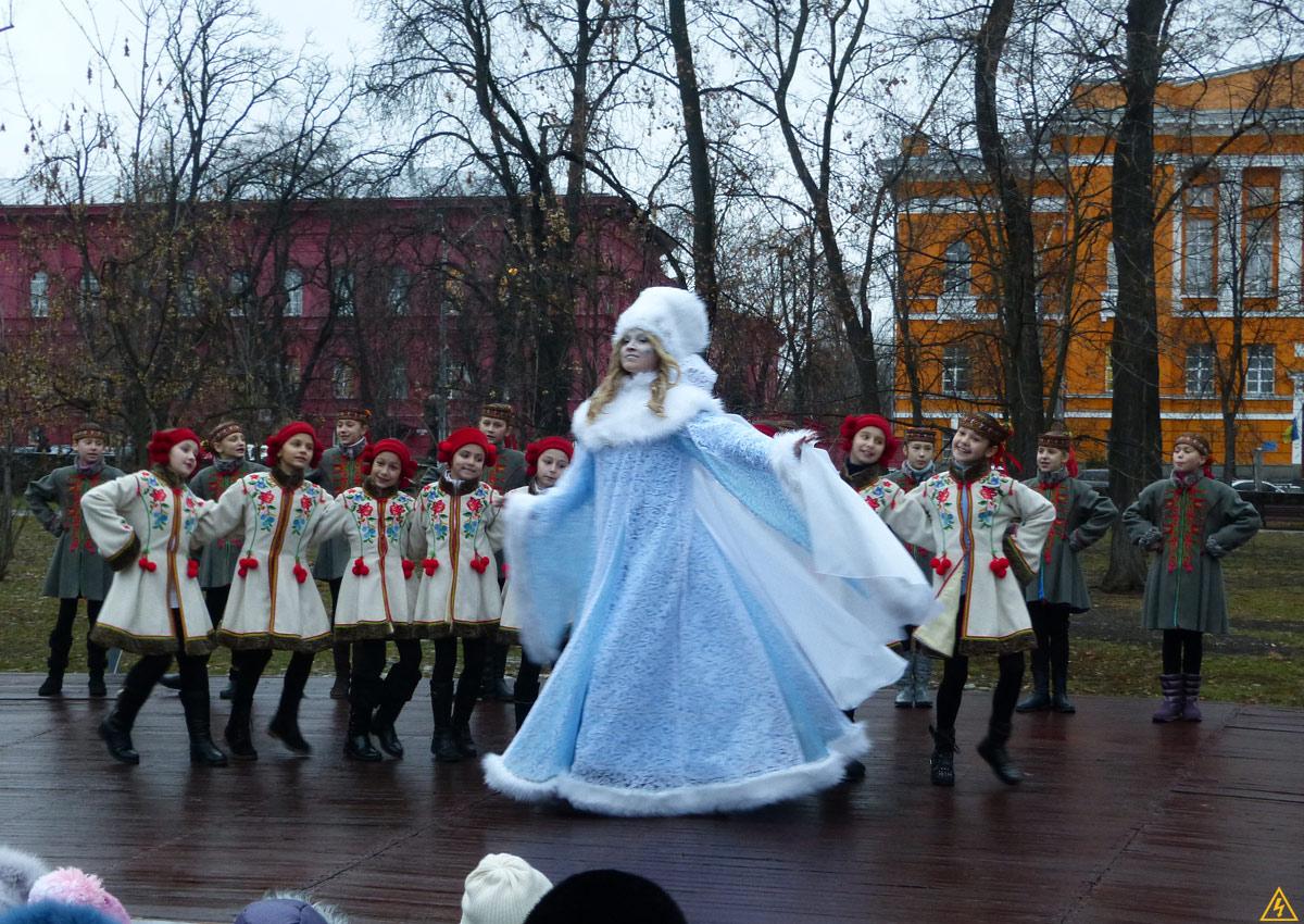 Зажжение новогодней ёлки в парке им. Т.Шевченко