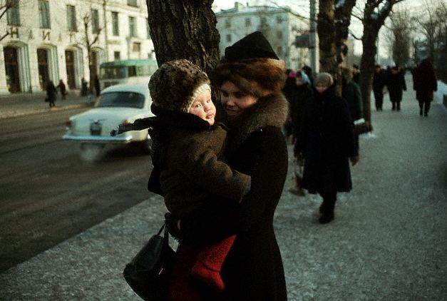 Mother and Child in Siberian Town