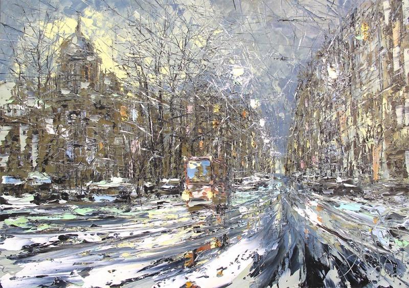 Дмитрий Кустанович — современный художник изМинска. Автор нашел свой почерк, свои технические прие
