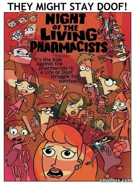 Финес и Ферб: Ночь живых аптекарей / Phineas and Ferb: Night of The Living Pharmacists (2014/WEB-DLRip)