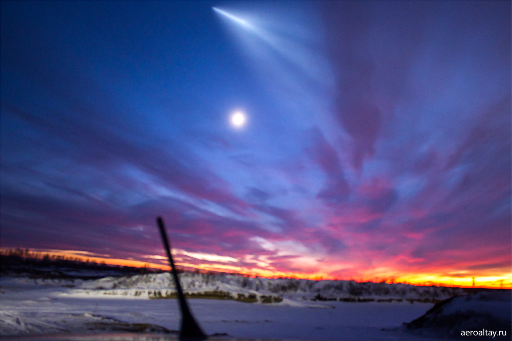 Ракета Союз над Барнаулом