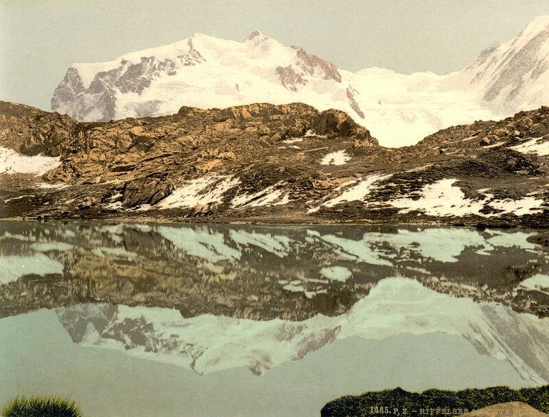 34. Озеро Риффель и гора Монте-Роза