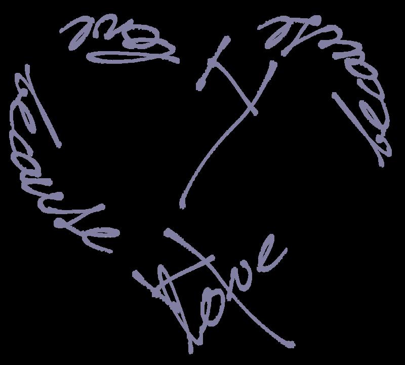 Надписи Romantic WordArt