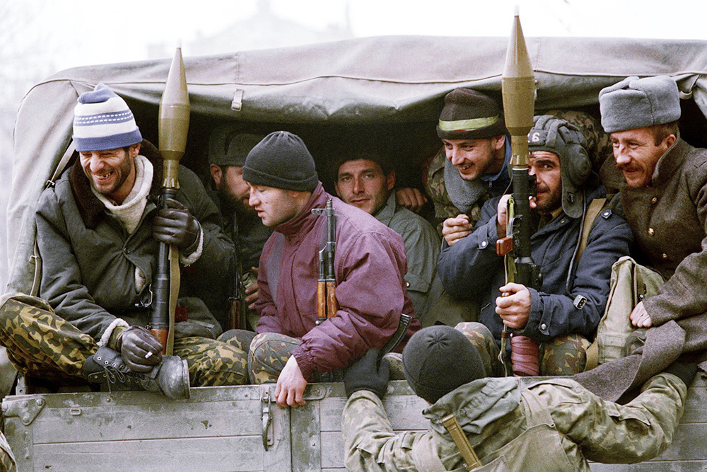 Russia Chechnya Breakaway  1994  Chechen Troops