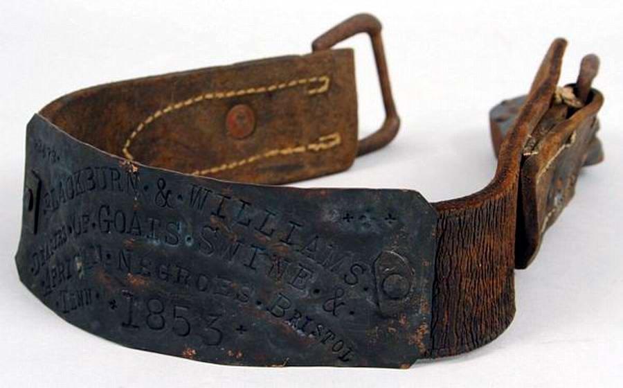 Еще один ошейник североамериканского раба, изготовленный в 1853 году