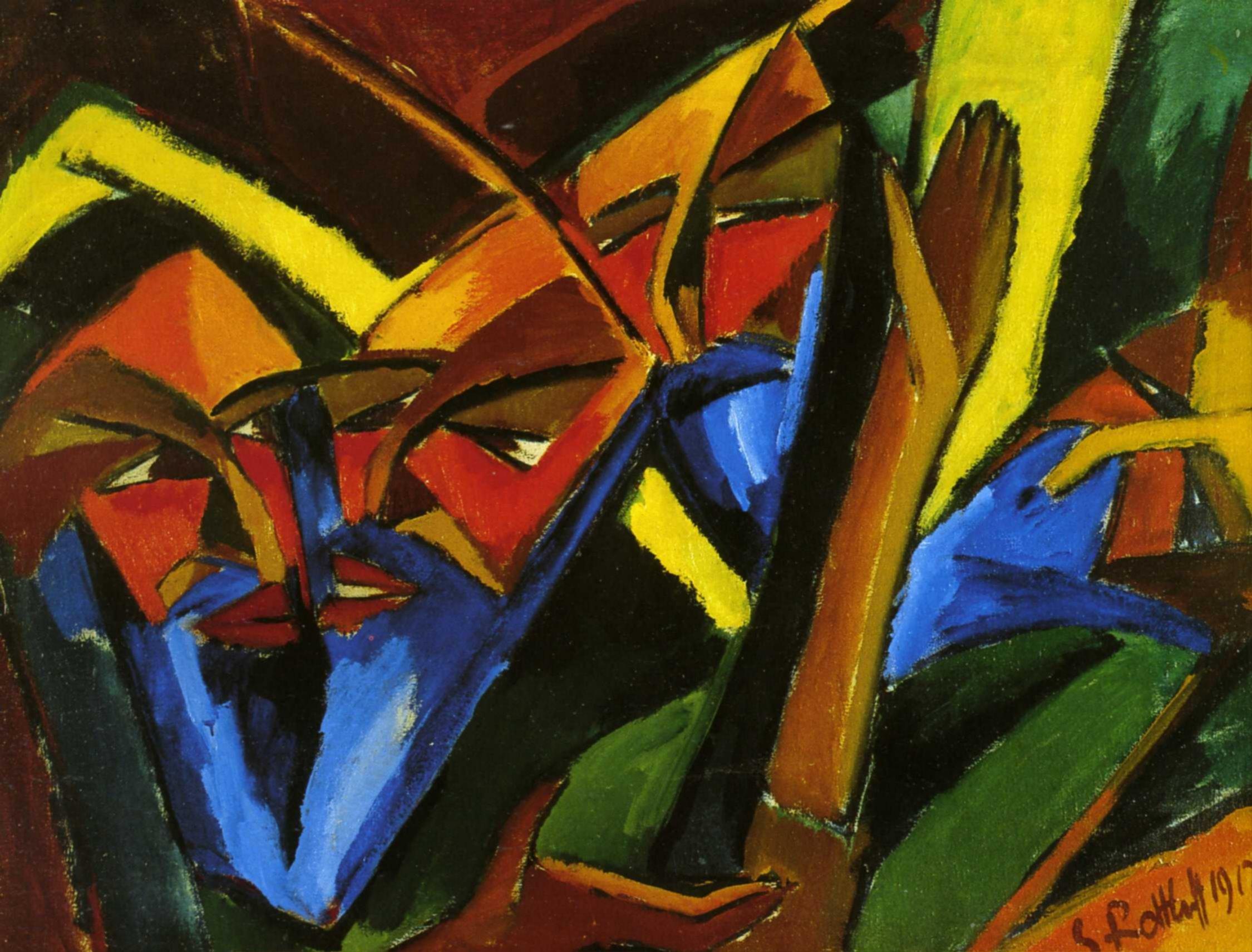 Карл Шмидт-Ротлуф (1884 — 1976) — немецкий художник-экспрессионист, один из теоретиков модернизма в живописи. 1912. «Фарисеи»
