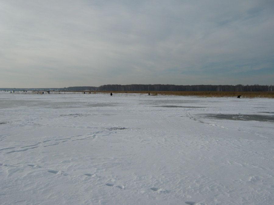 Рыбаки зимой наозере Сагишты (25.02.2015)