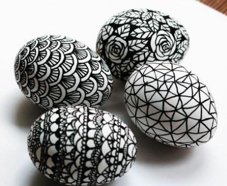 Роспись яиц маркером