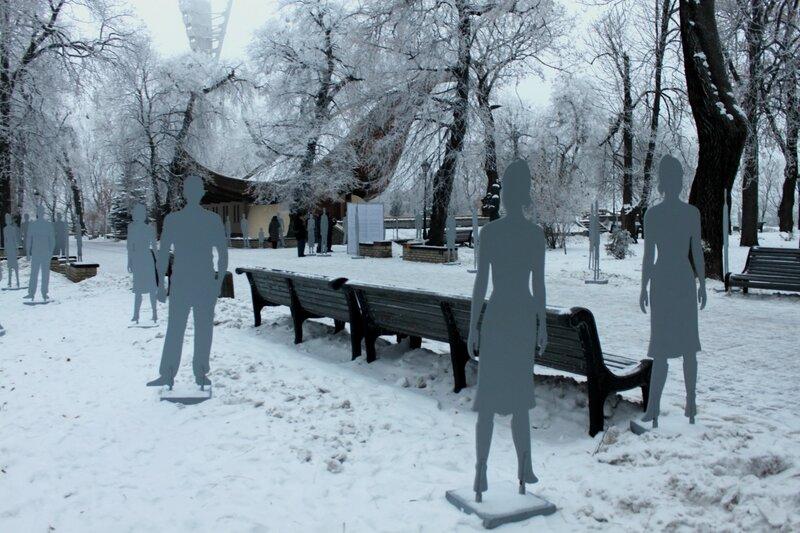 Инсталляция Невидимые в Мариинском парке