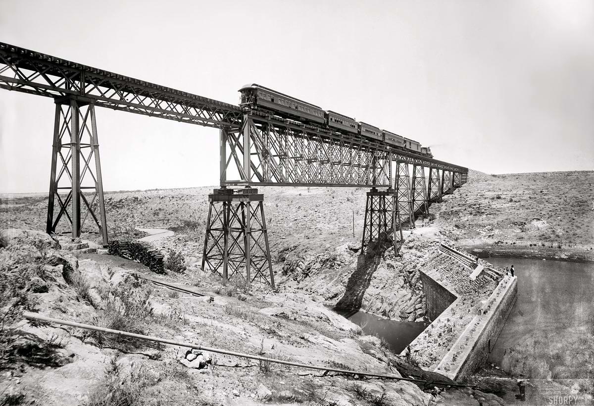 Железные дороги конца 19-го - начала 20-го века на снимках американских фотографов (17)
