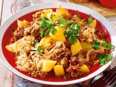 Суп с рисом и фаршем