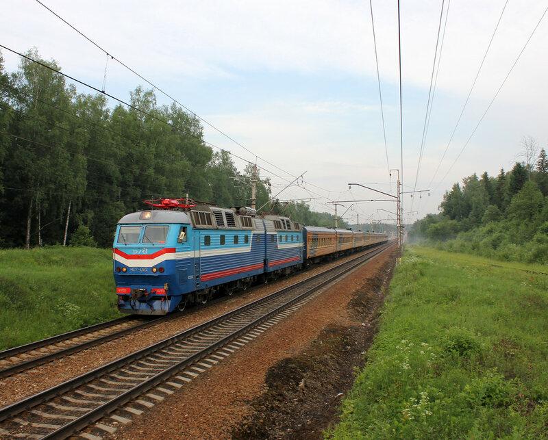ЧС7-062 с поездом Москва-Рига