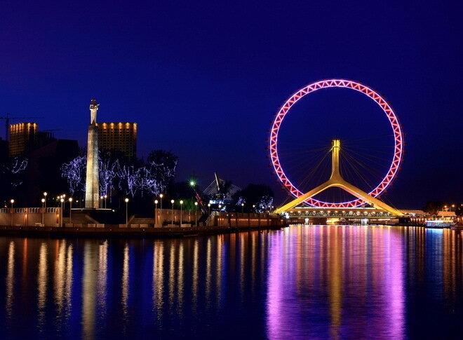 Мост «Око Тяньцзиня». Китай