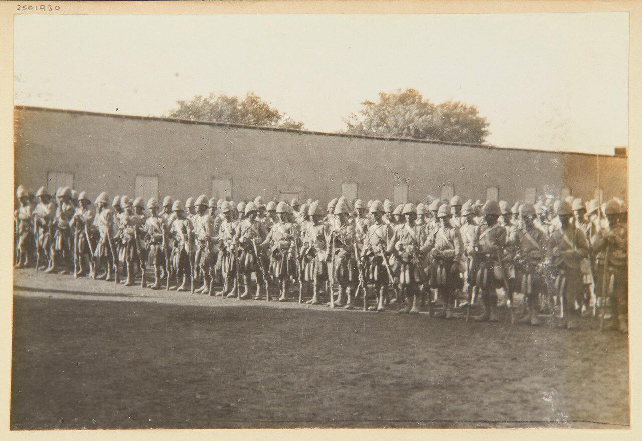 1-й батальон Собственного королевского Камерон-хайлендерского полка в Вади Хальфа. Сентябрь 1898
