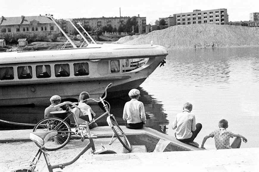 Рыбалка, река Великая, Псков , 1985