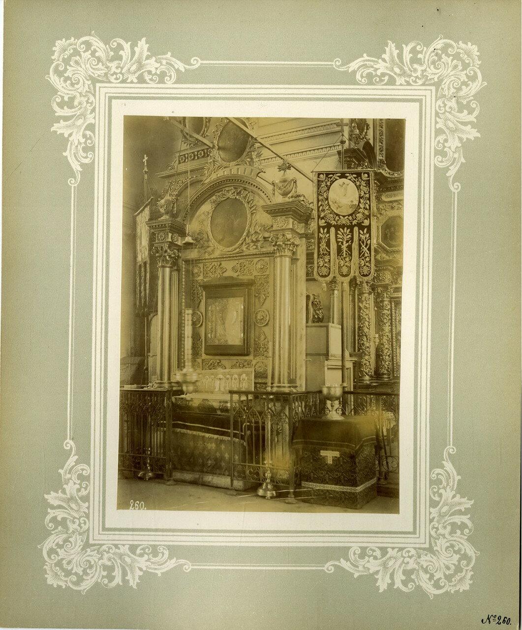 14. Древняя икона св. Николая чудотворца  в киоте у левого клироса соборного храма