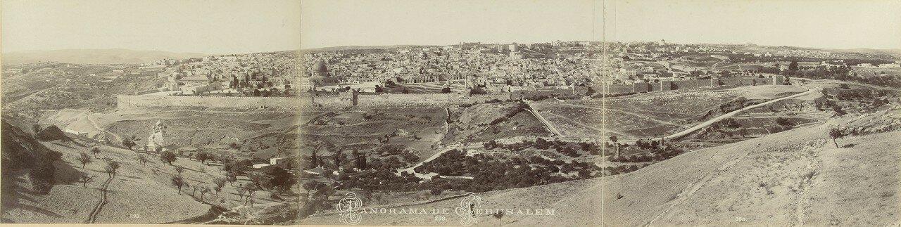 1895. Панорама Иерусалима