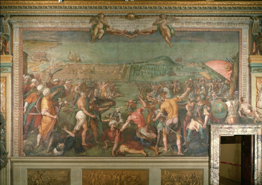 Bernardino Poccetti, The Battle of Prevesa, 1608-1612.png