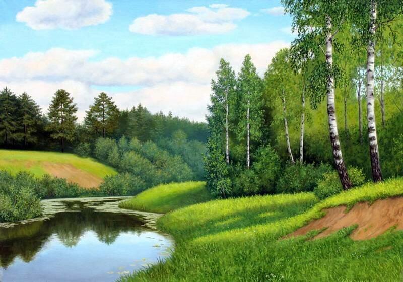 Бежит тропа моя петляя. Пейзажи Сержпинского Сергея