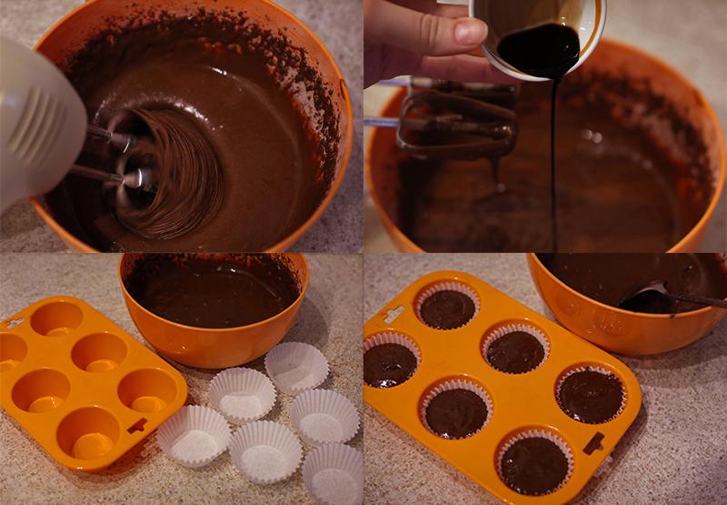 Шоколадные капкейки - пошаговый рецепт с фото #5.
