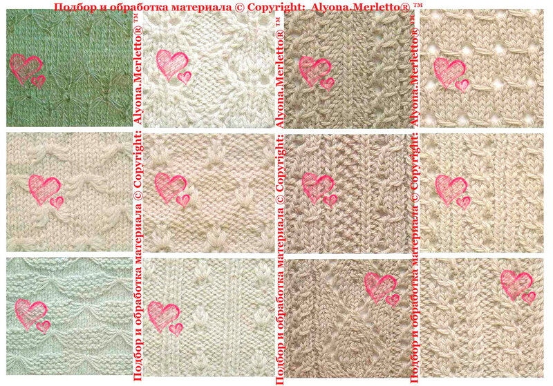 35Обозначения на японских схемах вязания спицами