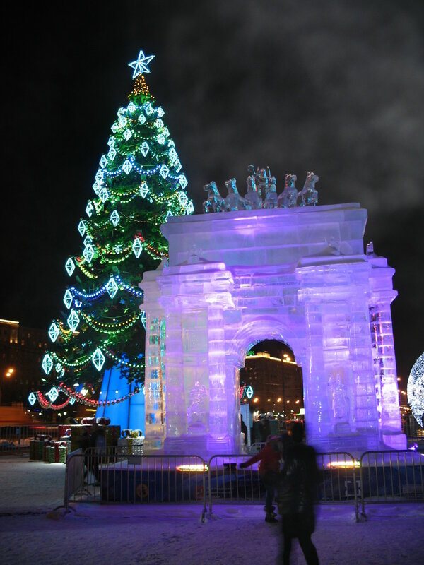 Ледовая Москва - Триумфальная арка