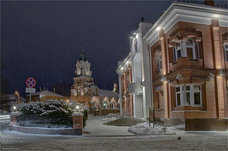 Костел св.Розария Пречистой Девы Марии в Крещенский мороз.