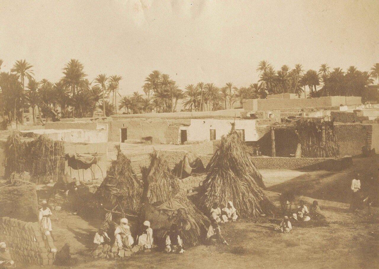 1856-1857. Хижины в Бискре. (фотограф Феликс-Жак-Антуан Мулен)
