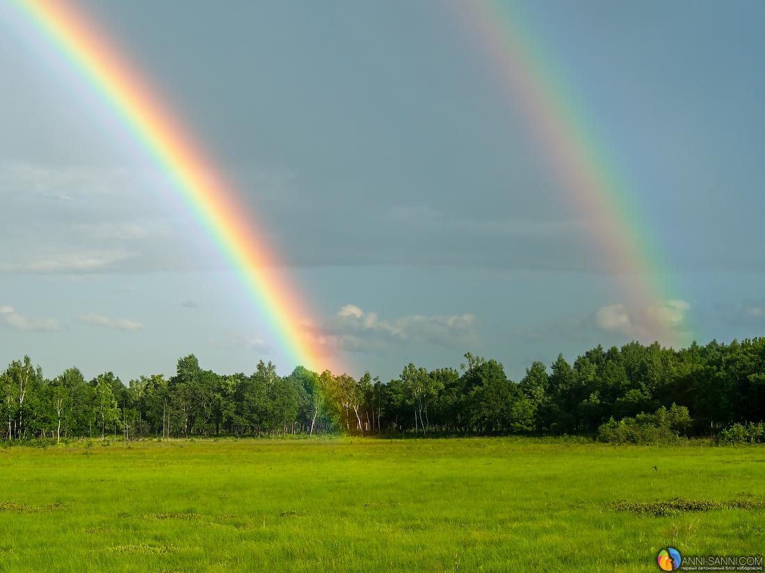 все необходимые три радуги фото она вся
