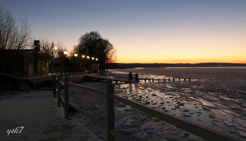 На берегу озера Плещеево в Переславле-Залесском