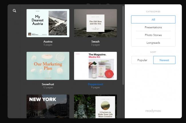 ReadyMag — удобная платформа, спомощью которой можно работать сконтентом ввебе— создавать презе