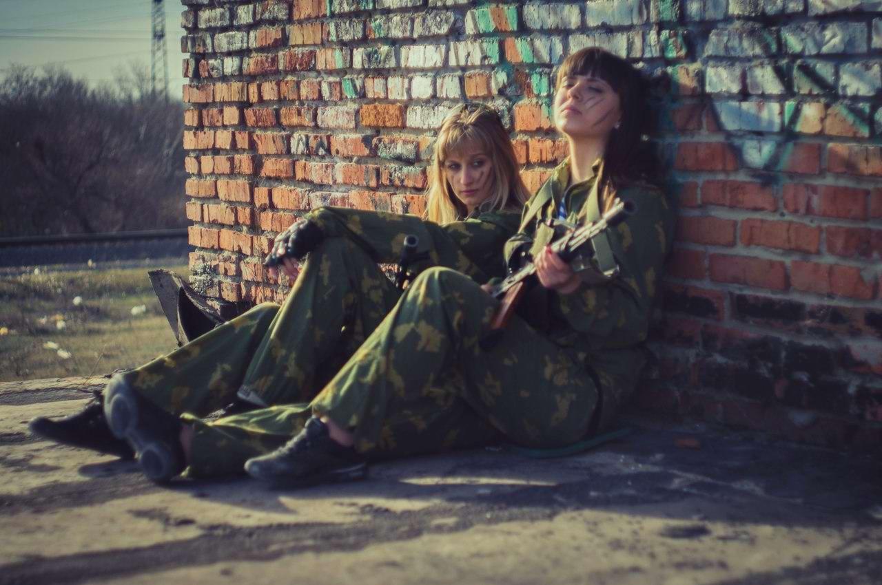 Боевые подруги: Фотосессия в стиле Military - лазертаг клуб - Отряд 61 - (Ростов-на-Дону) (10)