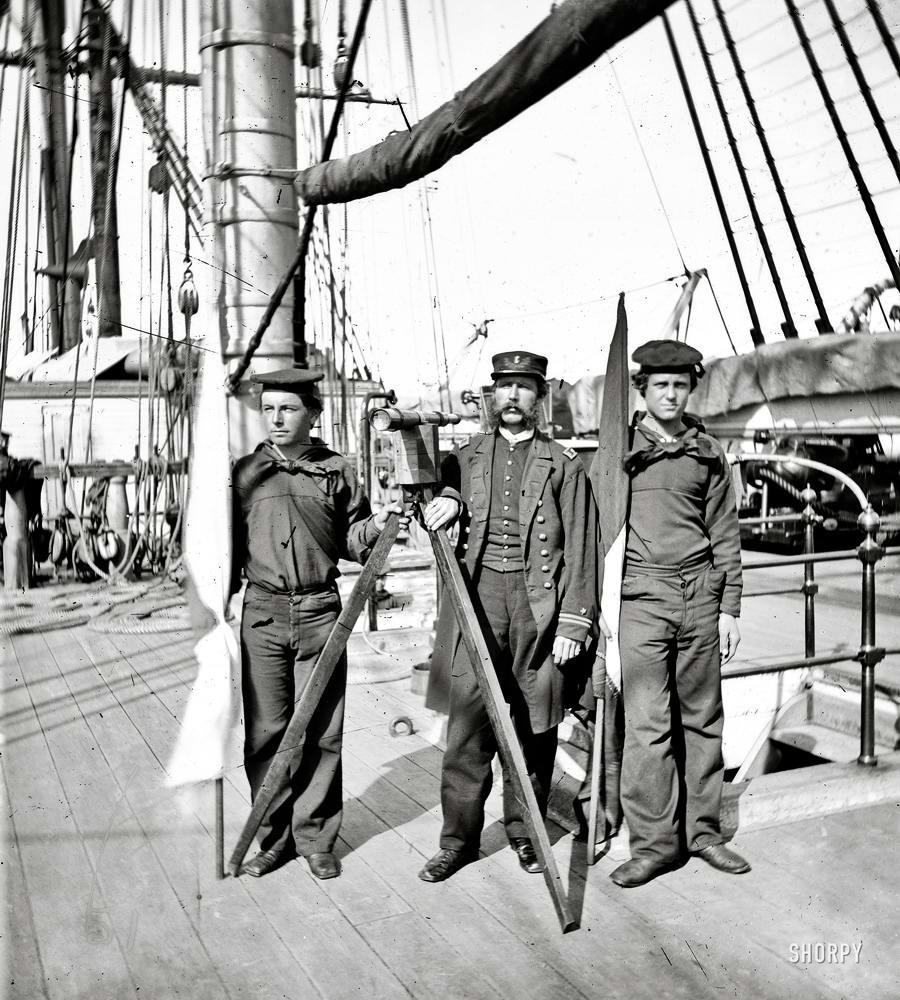 Корабли, речные суда и военные моряки на снимках американских фотографов конца 19 века (6)